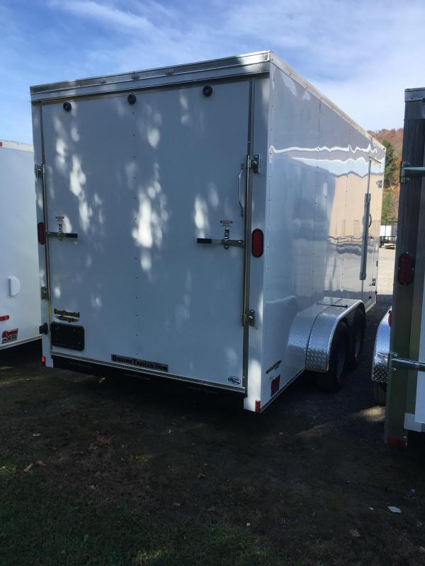 "2019 Continental Cargo 7x16 vnose 12"" extra ht. sd ramp door Enclosed Cargo Trailer"