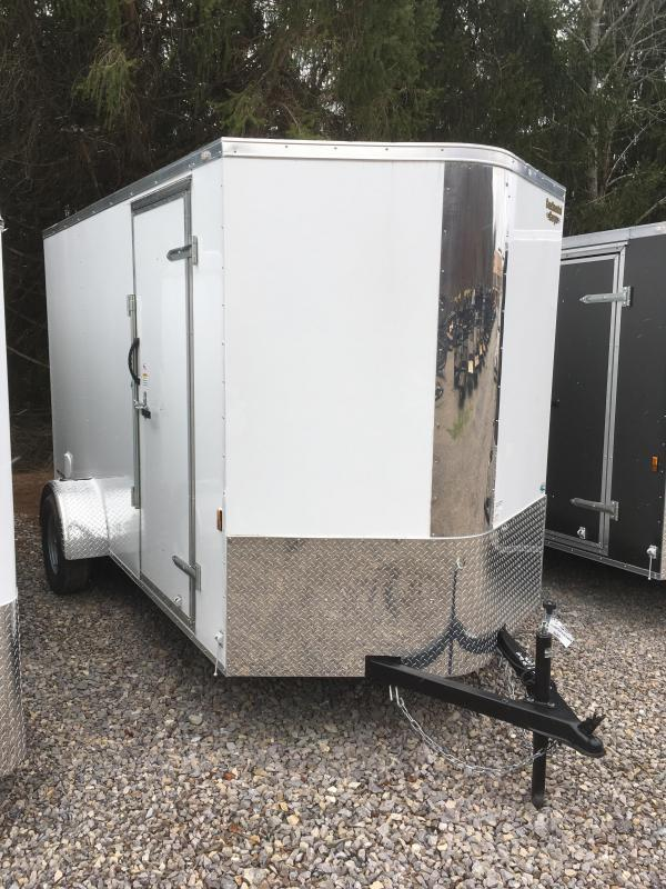 "2018 Continental Cargo 6x12 V-Nose 6""extra ht Side Door Ramp Door Enclosed Cargo Trailer"