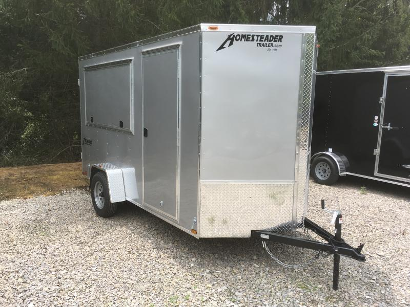 2019 Homesteader Intrepid 6x12 V-Nose Concession SD double door