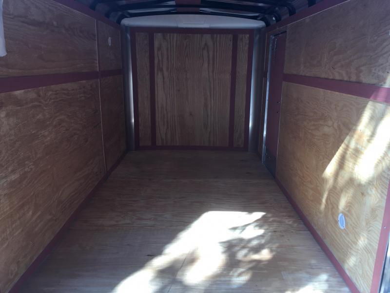 2018 Homesteader 7x12 Challenger ramp door single axle Enclosed Cargo Trailer