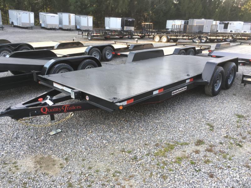 2019 Quality Trailers 82x20 5ton steel floor car hauler left removable fender 4brk Car / Racing Trailer