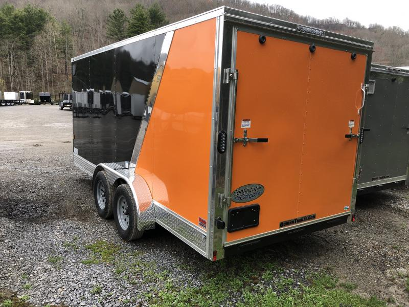 2020 Continental Cargo 7x16 vnose sd ramp door 2tone w/appearance pkg Enclosed Cargo Trailer
