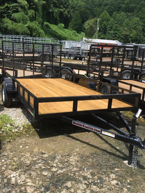 2018 Other (Not Listed) 82x14 single axle side load ramps Utility Trailer