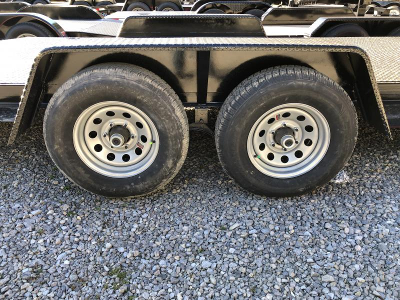 2019 Quality Trailers 82x22 5ton steel floor car hauler left removable fender 4brk Car / Racing Trailer
