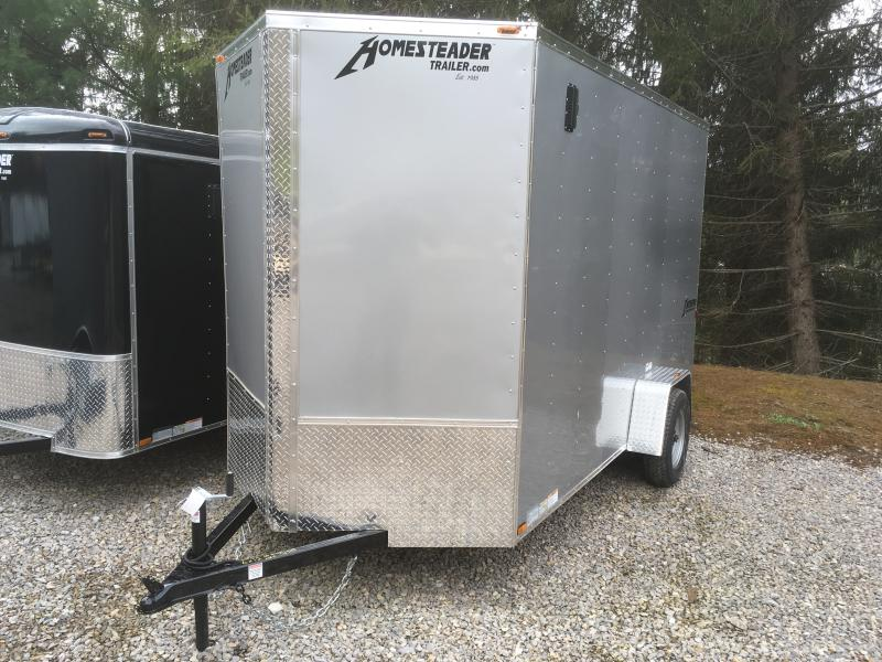 2018 Homesteader Inc. 6x12 patriot/intrepid 7'tall single axle ramp Enclosed Cargo Trailer
