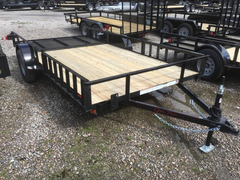 2019 Quality Trailers 82x14 side load ramps single axle w/gate Utility Trailer