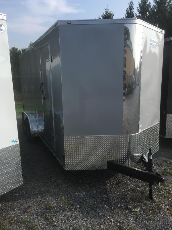 "2020 Continental Cargo 7x18 +12""ht vnose sd ramp door Enclosed Cargo Trailer"