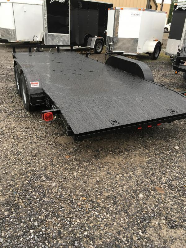 2018 Other 82x18 steel car hauler left removable fender Car / Racing Trailer