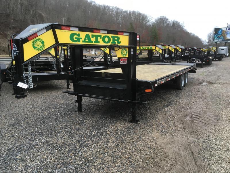 2019 Gatormade Trailers 25ft 20K Gooseneck big ramps Equipment Trailer