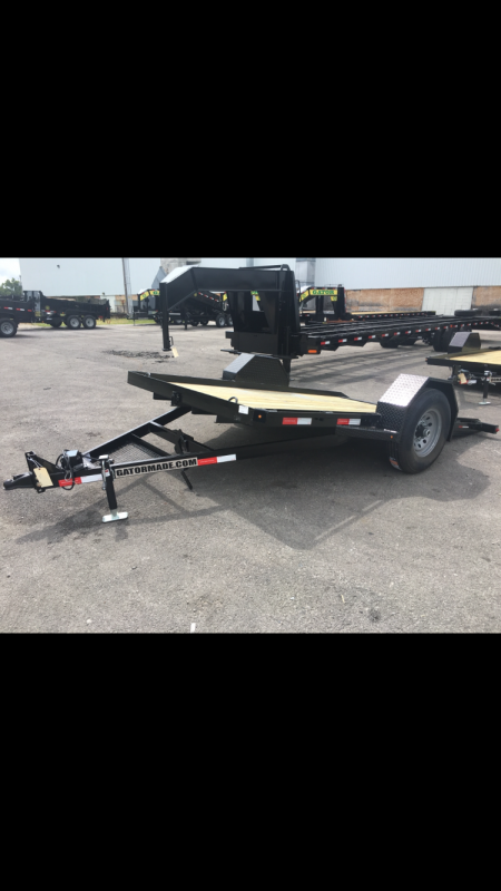 2019 Gatormade Trailers 7000 GVWR 82x12 HD Tilt Equipment Trailer