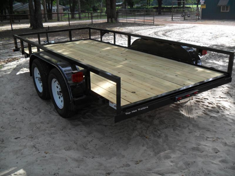 """2019 Top Hat Trailers 14' x 77"""" tandem Utility Trailer"""