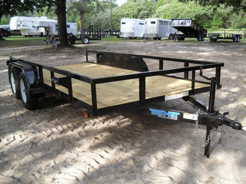 "2019 Top Hat Trailers 14' x 77"" tandem Utility Trailer"