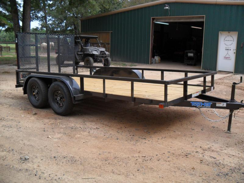 """2019 Top Hat Trailers 12' x 77"""" Tandem axle Utility Trailer"""
