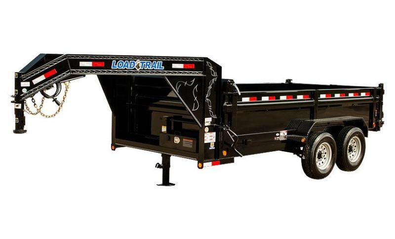 Load Trail GD14 14K Scissor Lift 83 X 14 Dump Trailer