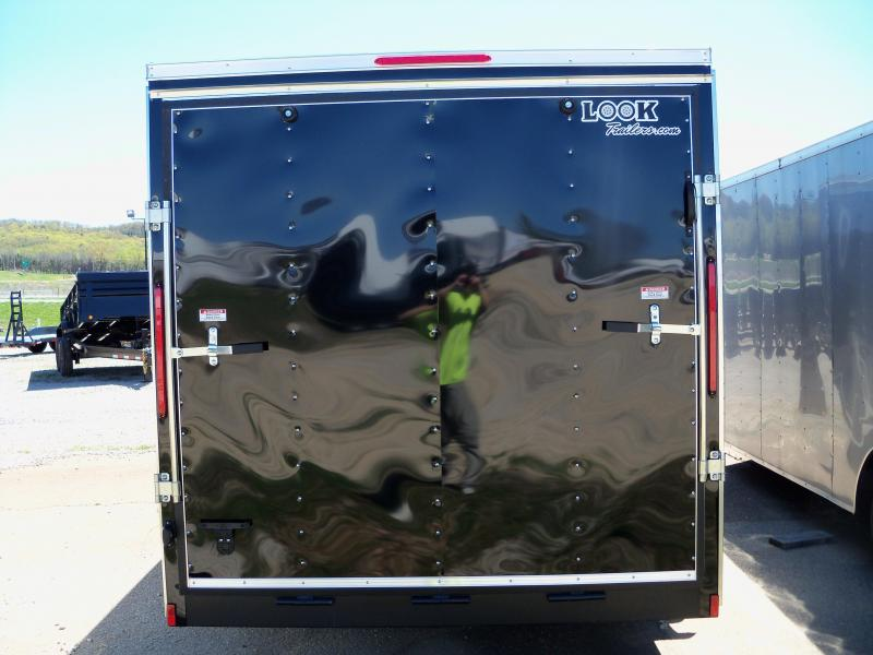 2019 Look Trailers WHITE Element Cargo Flat Top Cargo / Enclosed Trailer