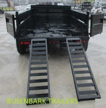 "Load Trail 72"" X 12' Tandem Axle 48"" side Dump Trailer"