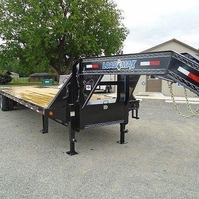 """102"""" x 28' Heavy Duty Gooseneck 2-10000 lb Axles"""