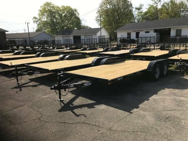 18ft Wood Deck Car Hauler Trailer w/ 2 Axle Brake *2018 Model Discount*