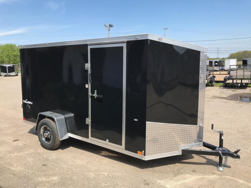 6x12 Ramp Door with Smooth Exterior + Aluminum Wheels