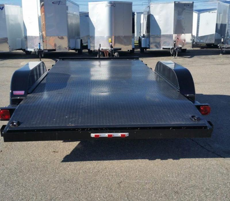 16ft Steel Deck Car Hauler w/ 1 Axle Brake