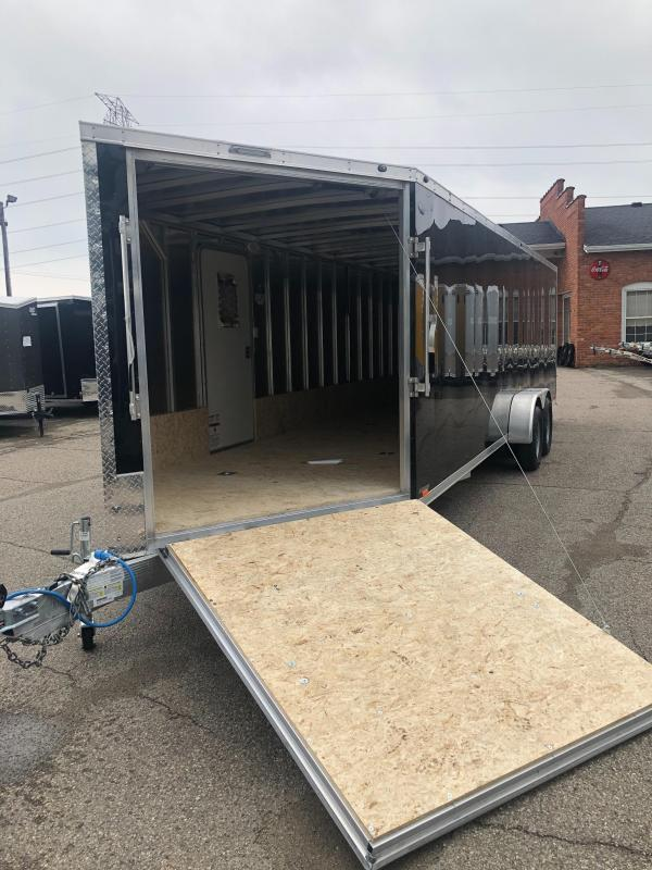 7x29ft 5-place Snow Trailer - All Aluminum **Reduced Price - Damaged Fender**