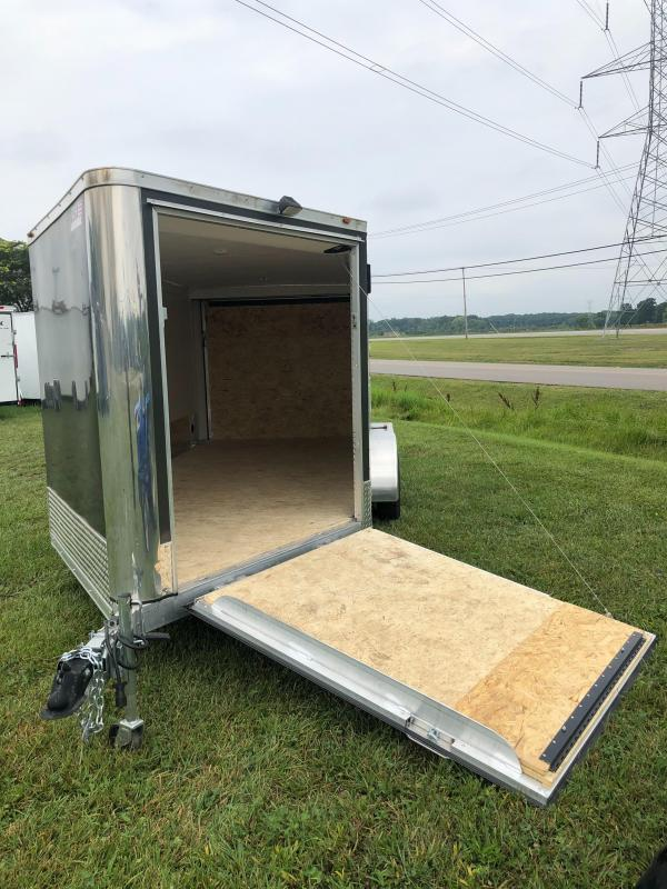 7x19 Aluminum Snow Trailer - Loaded Option Package - White Vinyl Interior **Reduced Price - Old Stock**
