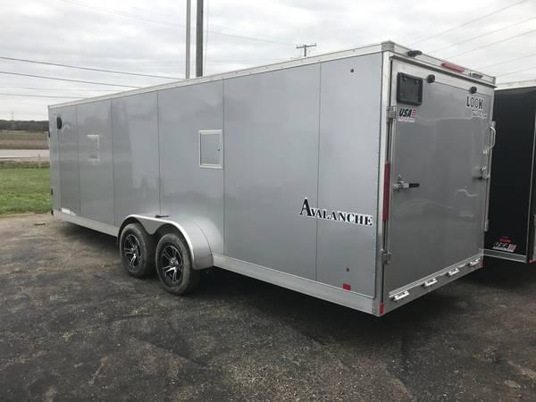 7x23 Aluminum Snow Trailer - 7ft Inside Height - LOOK Avalanche Option Package