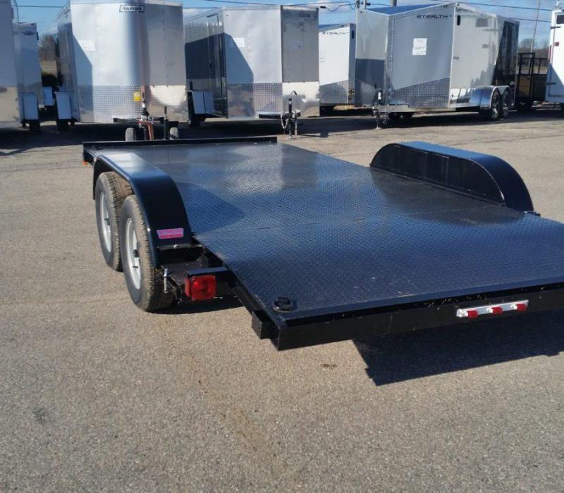 18ft Steel Deck Car Hauler w/ 1 Axle Brake