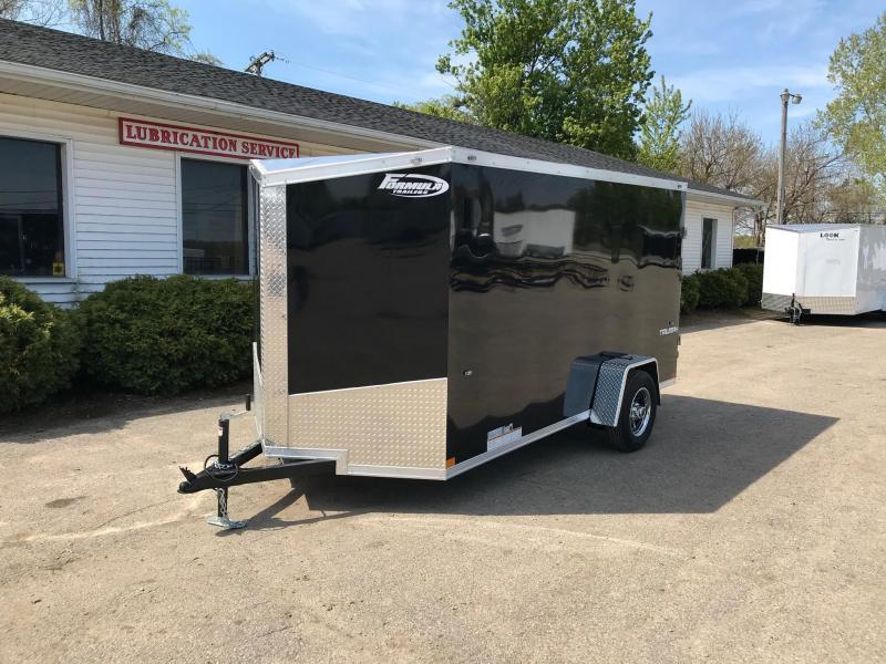 6x12 Ramp Door with Smooth Exterior + Aluminum Wheels