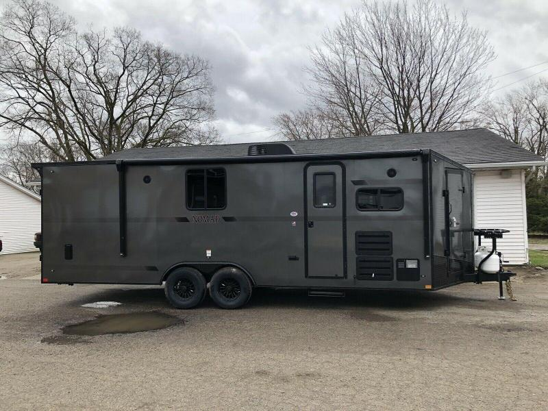 STEALTH NOMAD Deluxe Toy Hauler & Travel Trailer with Living Quarters