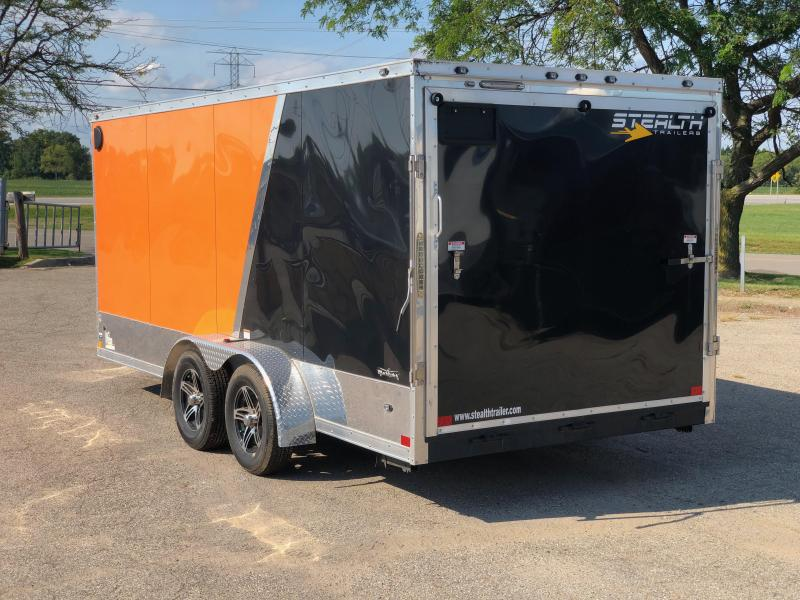 2019 Stealth Trailers 7 x 16 Enclosed Motorcycle Trailer Motorcycle Trailer