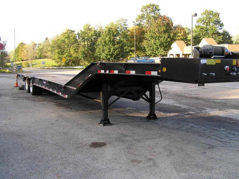 2017 Pitts Hydraulic tail lowboy trailer