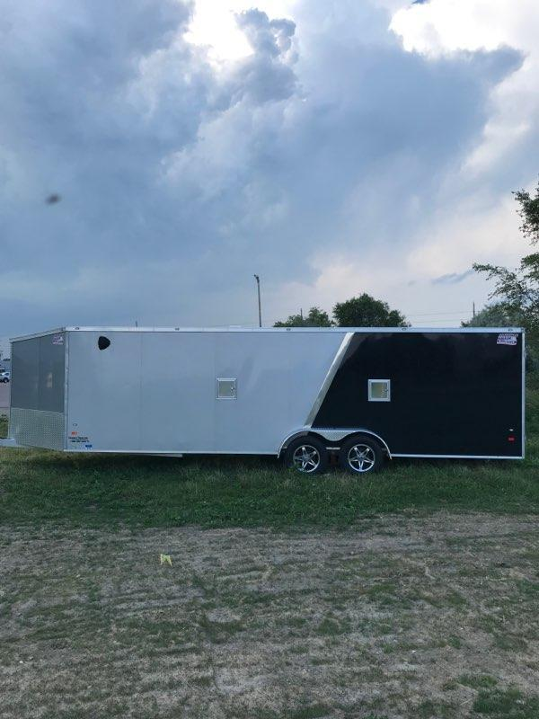 2018 American Hauler 7'x29' Snowmobile Trailer