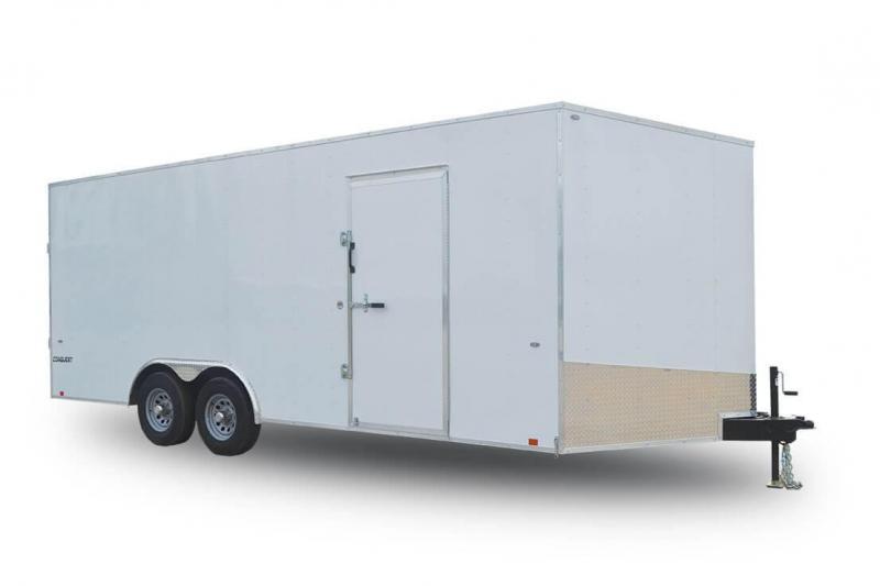 2019 Formula Trailers TRIUMPH 7 X 16 WHITE Enclosed Cargo Trailer