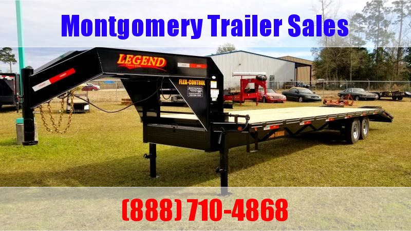 2019 Legend Flatbed Gooseneck Trailers 30 14K Tandem Flatbed Trailer