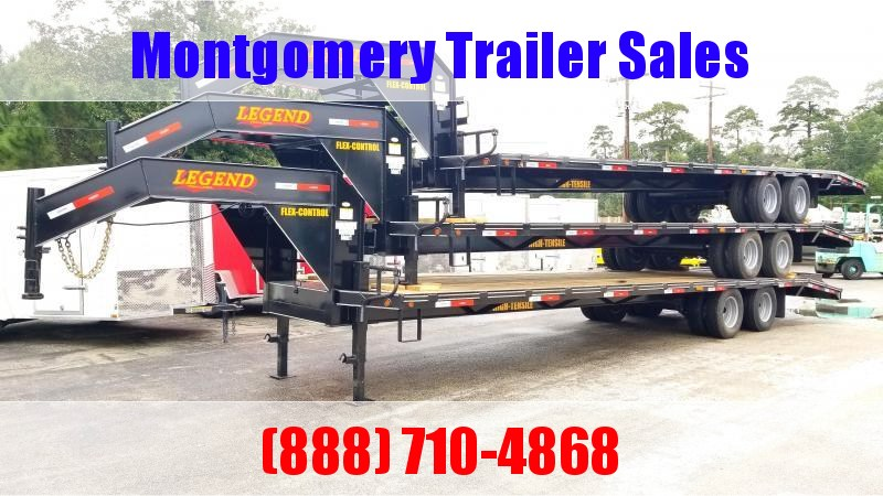 2019 Legend Flatbed Gooseneck Trailers 40' 24K GVWR (35'+5') Flatbed Trailer in Ashburn, VA