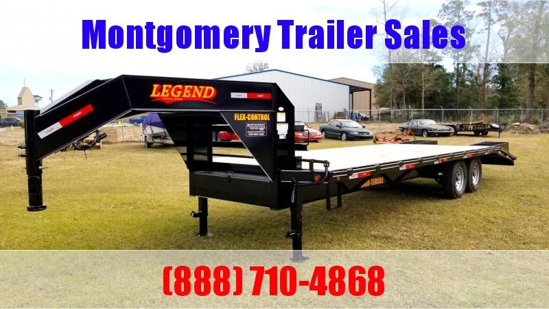 2019 Legend Flatbed Gooseneck Trailers 25 14K Tandem Flatbed Trailer in Ashburn, VA
