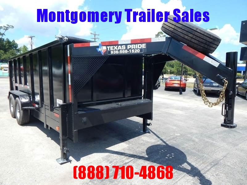 2018 TEXAS PRIDE 16' Dump Trailer Special 4' Sides