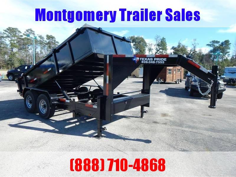 2019 TEXAS PRIDE 7' by 16' DUMP TRAILER GOOSENECK  in Ashburn, VA