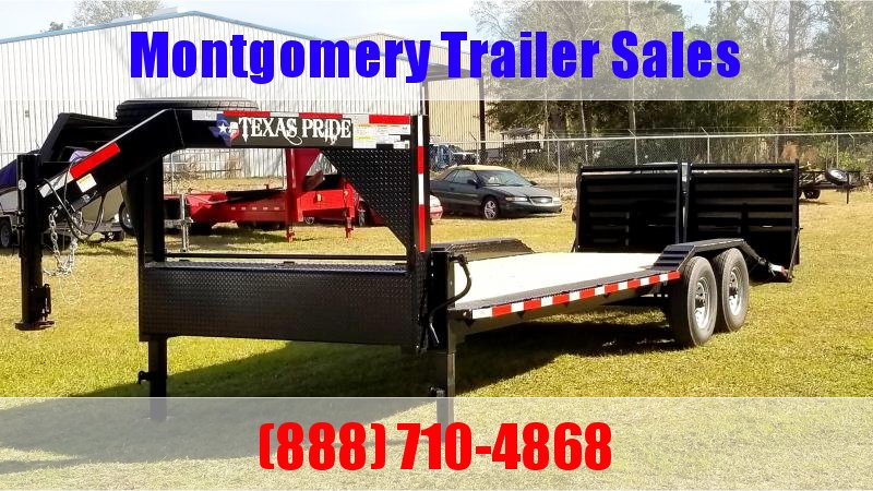 2019 Texas Pride Trailers 24 Gooseneck Lowboy Equipment Trailer in Ashburn, VA