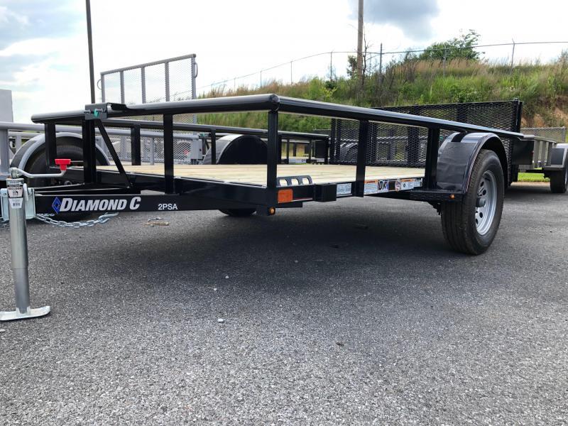 2019 Diamond C 2 PSA 10x77 Utility Trailer