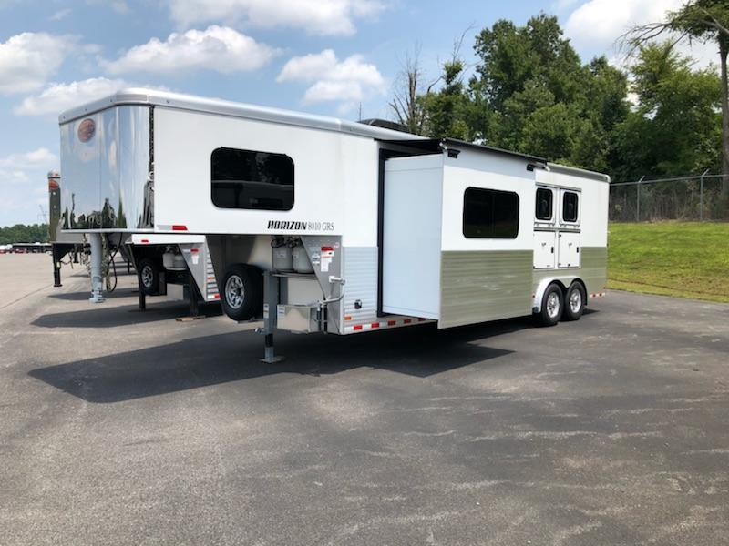 2019 Sundowner Horizon 8010 3H W/ Slide Horse Trailer