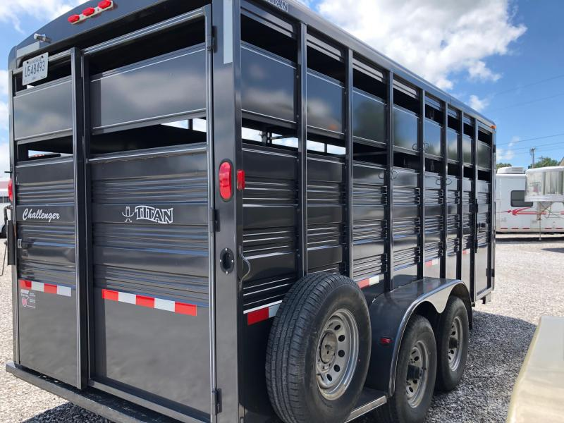 2014 Titan Challenger 18' BP Livestock Trailer
