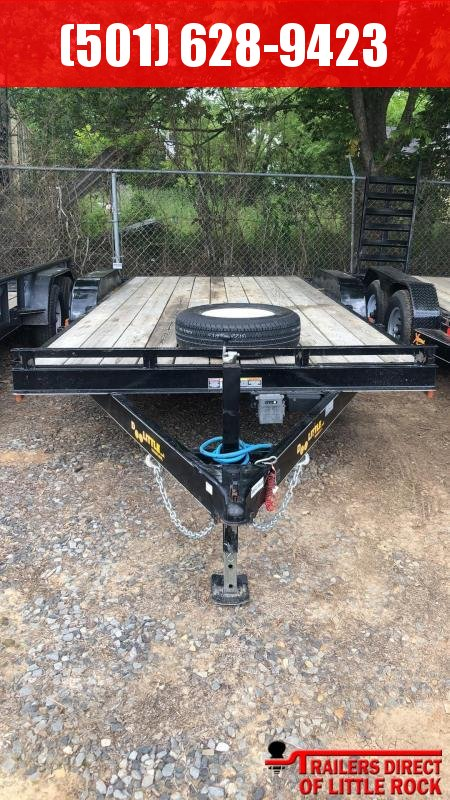 2017 Doolittle Trailer Mfg CF 84x18 TA 10k Self Store Ramps Equipment Trailer in Prattsville, AR