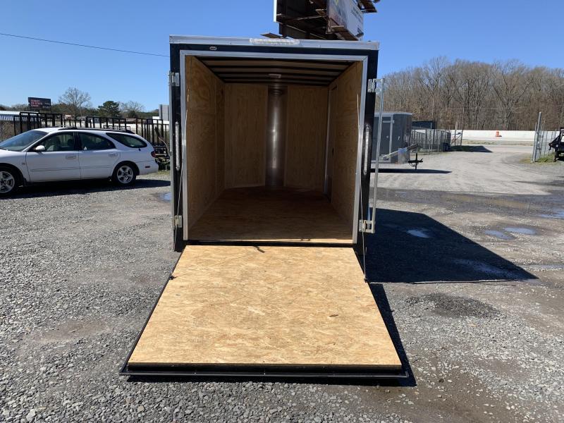 2019 Doolittle Trailer Mfg 6x12SA Black Ramp Door Enclosed Cargo Trailer
