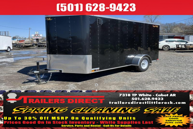 BLOWOUT!! 2018 Doolittle Trailer Mfg 6x12SA Black Ramp Door Enclosed Cargo Trailer