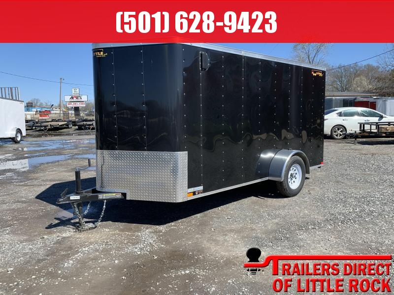 2019 Doolittle Trailer Mfg 6x12SA Black Ramp Door Enclosed Cargo Trailer