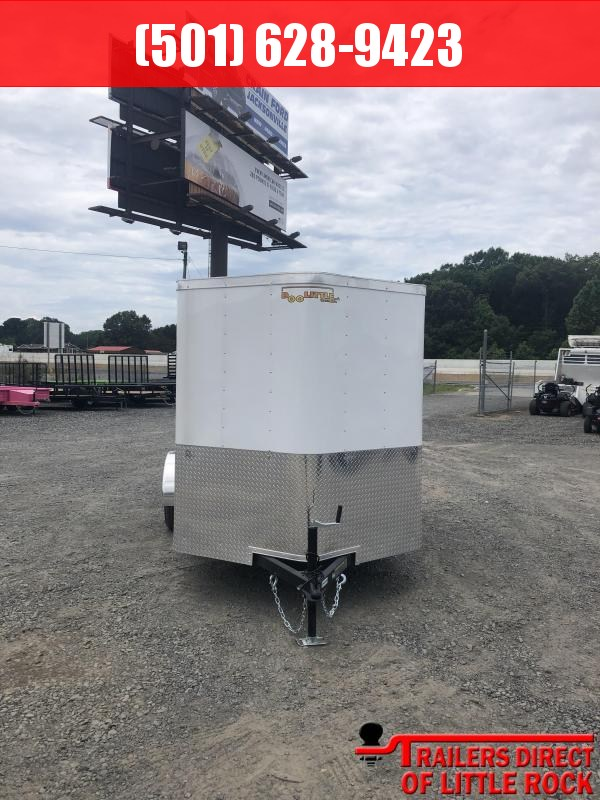 2019 Doolittle Trailer MFG. 6x10 White Ramp Door Enclosed Trailer