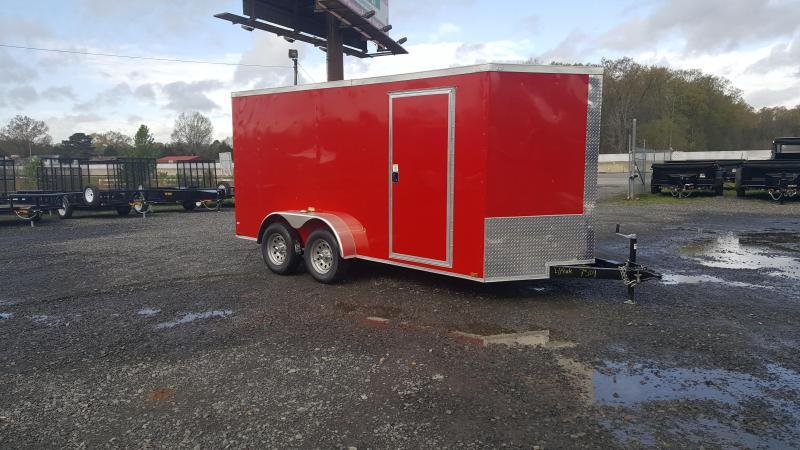 2018 Razorback 7X14TA RED BARN DOOR