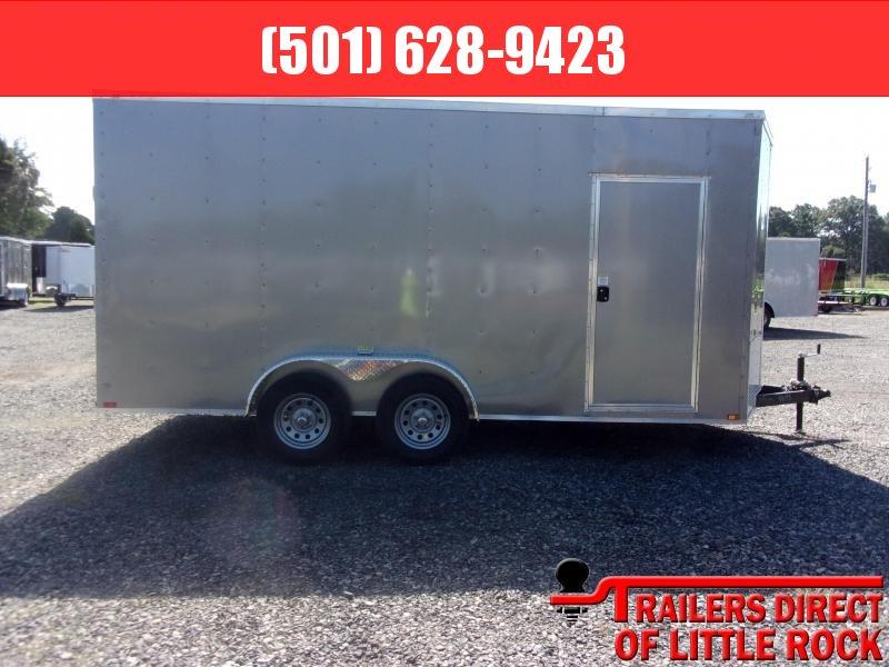 2019 Doolittle Trailer Mfg Razorback 7x16TA Pewter Ramp Door 12in Xtra Height Enclosed Cargo Trailer